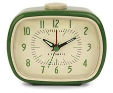 Retro Alarm Clock Green Kikkerland Battery Operated Glow In The Dark Hands