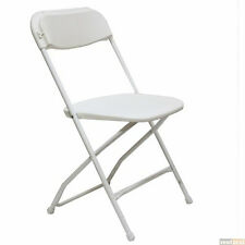 (100 PACK) 800 Lbs Capacity Commercial Quality White Plastic Folding Chairs