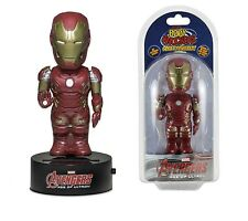 "NECA Solar Powered 6"" Marvel Comices Avengers Iron Man Body Knocker Figure"