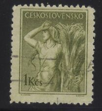 [JSC]1900+ Europe Ceskoslovensko 1 kcs stamp Paddy Lady