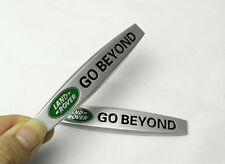 2Pcs For Land Rover GO BEYONO Metal Car Front Side Fender Sticker Badge Emblems