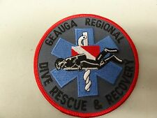 LAW ENFORCEMENT PATCH POLICE GEAUGA REGIONAL DIVER RESCUE AND RECOVERY