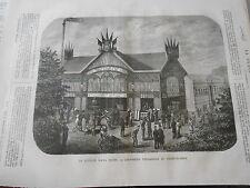 1878 PELE MELE de dessins Le Pavillon Raoul Pictet à l'expo universelle