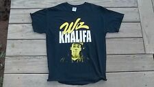 Cool WIZ KHALIFA T-Shirt L Hip Hop RAP Large weed smokin Used cracked ink