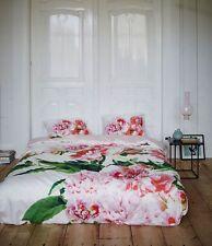 Essenza  Satin Bettwäsche Karin Multi Pfingstrose weiß rosa 135x200 cm 2-tlg.