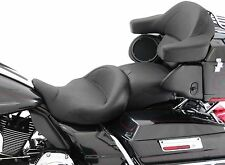 Mustang 1-Piece Super Touring Vintage Seat for 2008-2016 Harley Touring Models