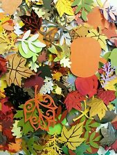 Fall Mix small scrapbooking cuts/punches/sequins/resin lot DIY