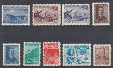 Albania Sc 495/568 MLH. 1953-60 issues, 9 bettter singles F-VF
