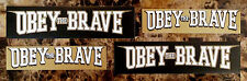 OBEY THE BRAVE Salvation/Young Blood 2014 Stickers +FREE Metal/Rock Stickers Lot