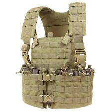 Condor CS TAN Modular MOLLE PALS Chest Rig w/ Magazine & Hydration Pouch