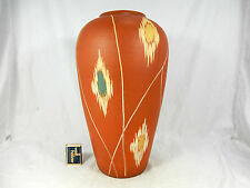Typical 50´s WGP design SAWA pottery vase  # Keramik Vase 246 / 35   36 cm