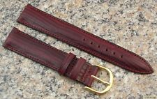 18mm STYLECRAFT Burgundy Teju Lizard Gr Watch Band NOS Strap Made in Canada #340
