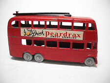 Vintage 1958 Lesney #56A LONDON TROLLEY BUS, RESTO-MOD RARE BLACK POLES GPW 2