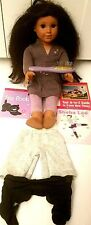 AMERICAN GIRL DOLL JOSEFINA BROWN SKIN AND EYES WITH CLOTHING & MORE - NEEDS TLC