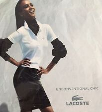 LACOSTE collection classic white collared pique knit top 40 US S M 6 8