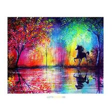 DIY 5D Diamond Sky Horse Embroidery Painting Cross Stitch Craft Home Wall Decor