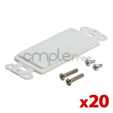20 Pack Lot Single 1 Gang Wall Plate Blank Insert Cover Decora White NEW