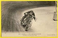 cpa Très Rare SPORT PILOTE de Vitesse MOTO Peugeot Henri CISSAC d'IVRY sur SEINE