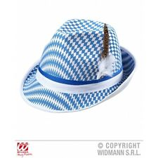 Bavarian Flag Fedora with Feather Dec Hat for Oktoberfest Octoberfest Festival F