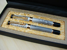 Jinhao Fountain Pen & Roller Pen Set Lot Dragon Offspring Original Gift Box