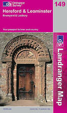 Hereford and Leominster, Bromyard and Ledbury Ordnance Survey Sheet map, folded