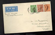 1929 london England First Flight Cover to Alexandria Egypt FFC Imperial Airways