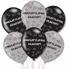 "Congratulations Graduate Graduation Latex Party Celebration Ballons 11"" Pack 6"