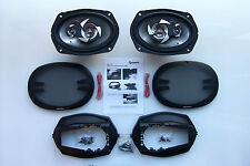 "BMW E36 (91-99) - Rear Car Speakers + Speaker Adaptors SAK-1204 (6X9"" TRIAXIAL)"