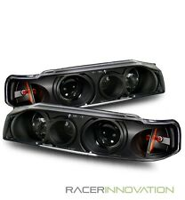 For 90-93 Honda Accord 4DR Sedan 1 Piece Projector Headlights Black