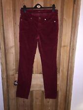 "Cambio Parla Red Cotton Skinny Trousers Size W32"" L32"" *K2"
