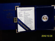 1991 Gold $5 PROOF 1/10 oz. American Eagle with Case, Box, & COA - .1091 oz