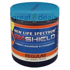 New Life Spectrum Ick Shield Regular 125g 1mm Sinking Pellet Medicated Fish Food