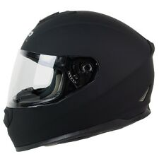 M L XL ~ PGR ST01 MATTE SOLID BLACK Motorcycle Full Face Helmet DOT Street Bike