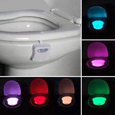Motion Activated Toilet Night Light LED Seat Nightlight Sensor Lamp 8-Color Hot