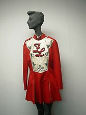 VINTAGE 1970s FAIR LAWN NJ HIGH SCHOOL RED WOOL MAJORETTE UNIFORM DRESS #18
