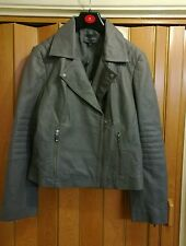 womens PIEDA A TERRE LEATHER JACKET SIZE 16 brand new with tag