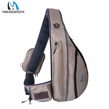 Tenkara Fishing Sling Pack Backpack Accross Shoulder Bag W/ Fly Patch