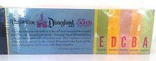 "DISNEY VINYLMATION 3"" DISNEYLAND 55TH ANNIVERSARY TICKET BOOK SET A B C D E PIN"