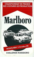 Autocollant sticker Marlboro  Montlhéry  1980 championnat Production AUDI Elvia