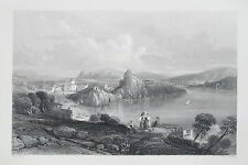 c1840 THE ELYSIAN FIELDS FROM CAPE MISENO ITALY Genuine Antique Print