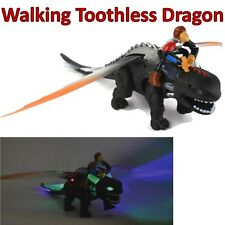 "18"" Walking Toothless Hiccup tren Your Dragon Dinosaur How To Luces Dinasour"