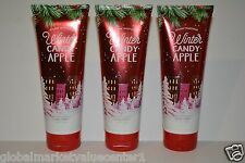 3 Bath & Body Works WINTER CANDY APPLE  24 HOUR MOISTURE ULTRA SHEA CREAM 8oz
