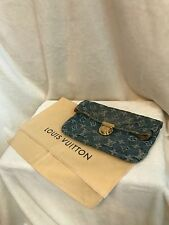 LOUIS VUITTON DENIM Pouch Wallet Pouchette HANDBAG