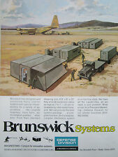 7/1977 PUB BRUNSWICK DEFENSE SHELTER SYSTEMS US ARMY AIR TRANSPORT ORIGINAL AD