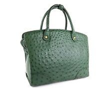 Genuine Ostrich Leather Green Hand Bag