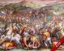 BATTLE OF MARCIANO PAINTING FRENCH ROMAN ITALIAN WAR 1551 ART REAL CANVAS PRINT