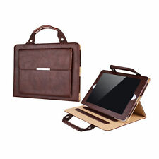 iPad Air 2 Brown PU Leather Smart Stand Carrying Case Cover Handbag Style