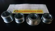 HONDA VTR1000 VTR1000F Firestorm 1999 - 2005 Captive wheel Spacers. Silver/Black