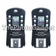 Yongnuo RF605C RF-605 Wireless Flash Strobe Trigger Set with LCD for Canon