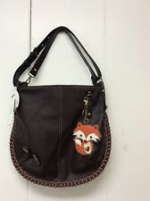 Chala Hobo Crossbody Purse Convertible Shoulder Bag Brown Fox Charm New